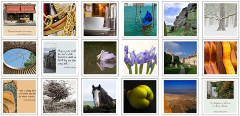A Selection From The Range Of Quillcards™ Ecards