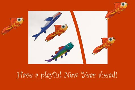 Wishing You A Playful New Year - A Quillcards™ Ecard