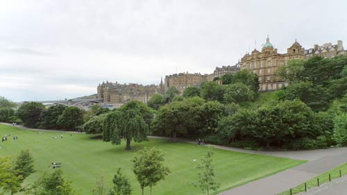 Looking Across The Valley From Princes Street To The High Street