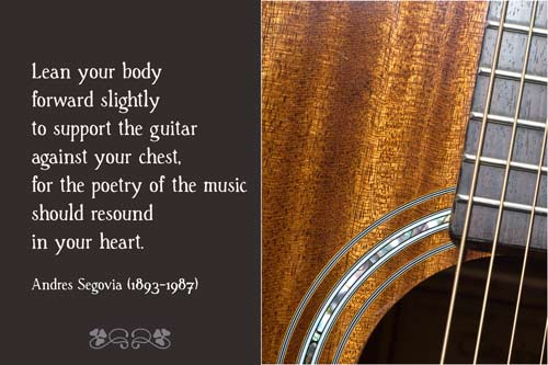 The Guitar - A Quillcards Quotation Ecard