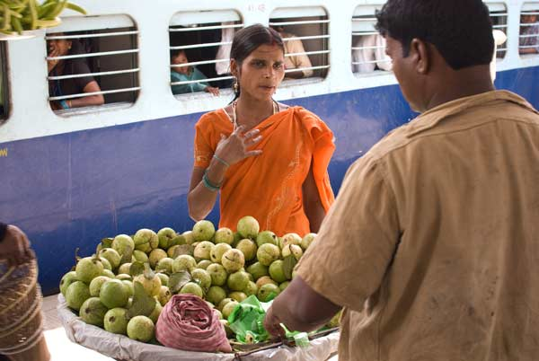 Varanasi - Buying Food For The Train Journey