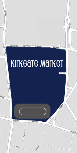 Map of Kirkgate Market