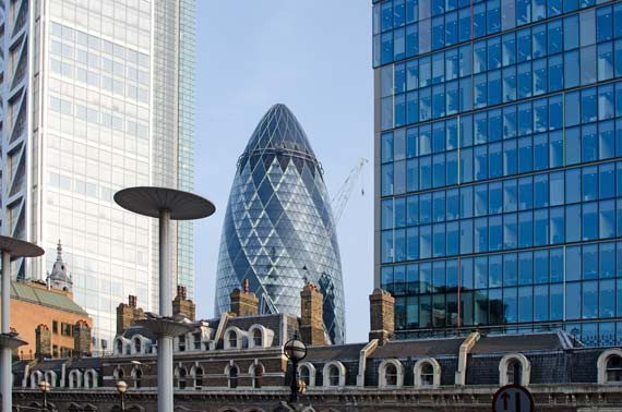 The Gherkin From Liverpool Street