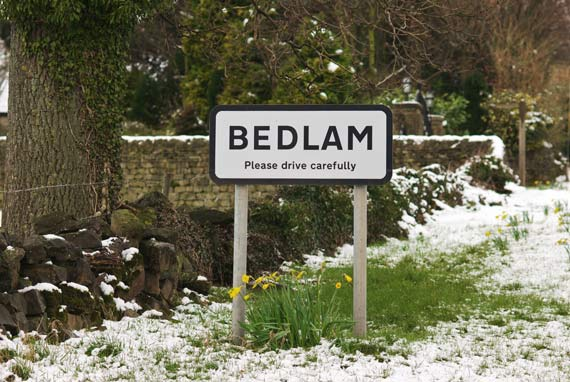 The Village Of Bedlam In North Yorkshire