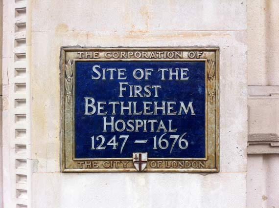 The Site Of The First Bethlehem Royal Hospital in London