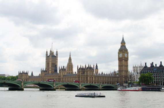 The Houses Of Parliament in London Viewed From The South Bank