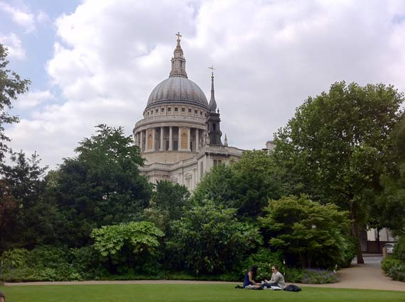 St Paul's Cathedral in London Viewed From The Park