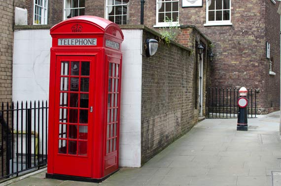 Telephone Box and bollard in London