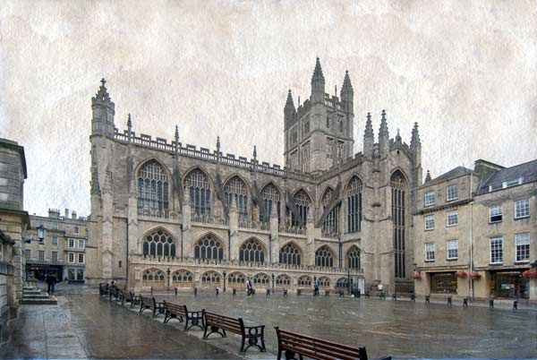photo of Bath Abbey from across the square