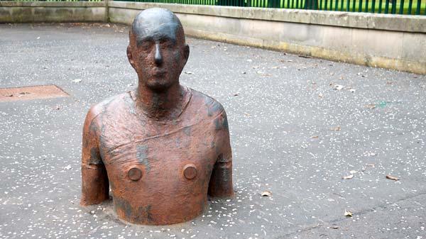 Antony Gormley Man Half Underground