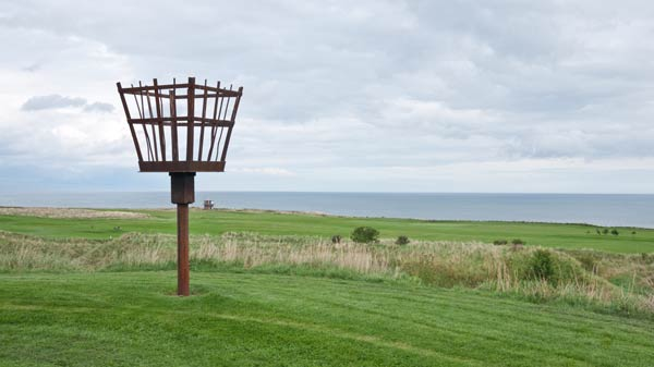 photo of iron basket for a medieval beacon at Berwick Upon Tweed