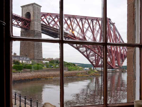photo of forth rail bridge seen through pub window