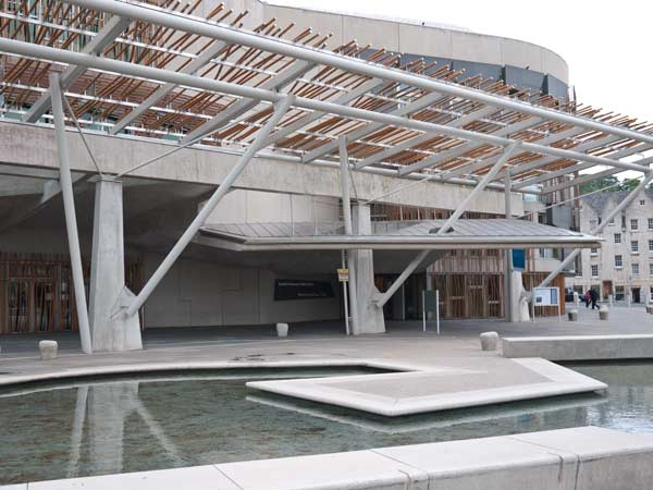 Scottish Parliament  Building - Rustic Roof