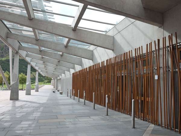 Scottish Parliament  Building - Rustic Windows
