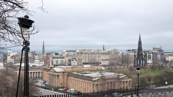 Looking North From The Mound Towards Princes Street In Edinburgh