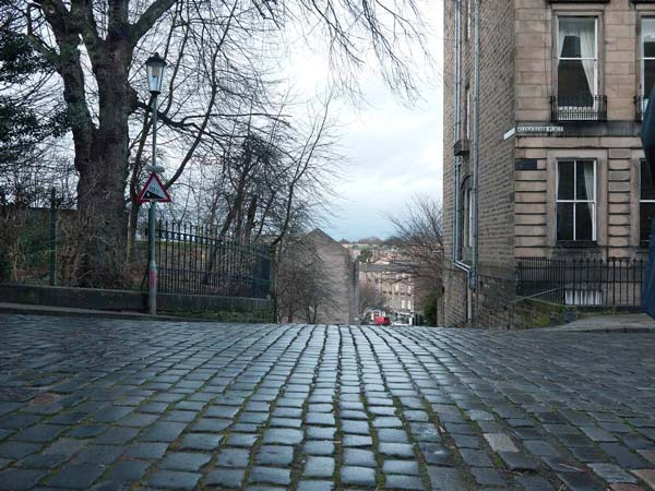 From Doune Terrace and Gloucester Lane in Edinburgh Looking North Towards Stockbridge
