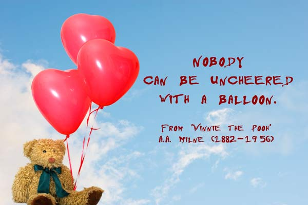 Winnie the pooh birthday quotes quotesgram - Balloons Quotes Quotesgram