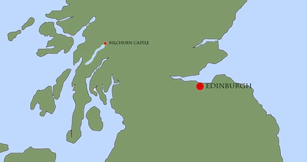 Location Map Of Kilchurn Castle