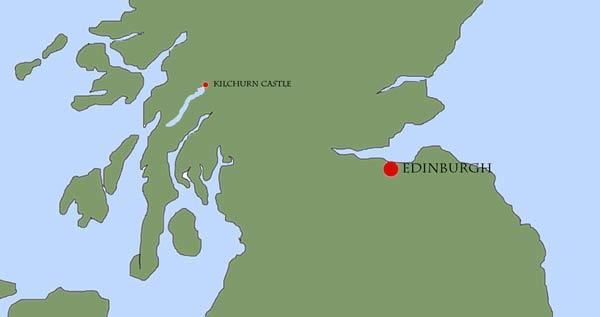 Location Map Of Kilchurn Castle