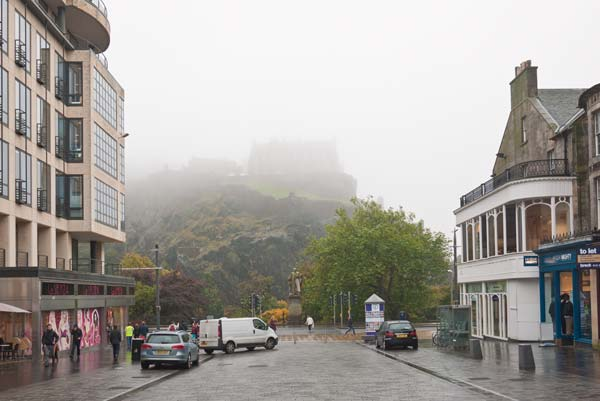 Edinburgh Castle Shrouded In Haar