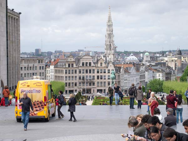 Looking Towards Lower Town - Brussels