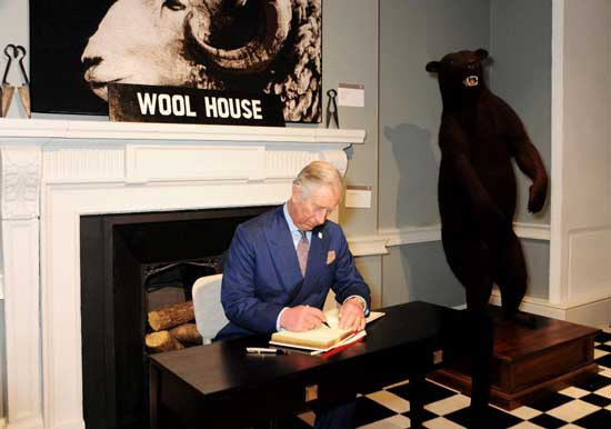 Prince Charles At The Campaign For Wool Exhibition