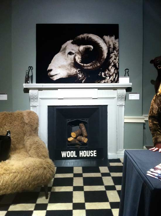Herdwick Art Work At The Wool House Exhibition at Somerset House
