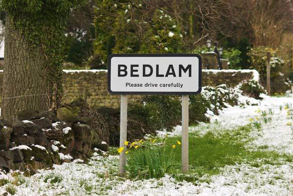 The Village Of Bedlam in North Yorkshire - A Quillcards Ecard