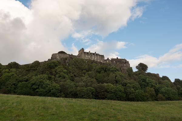 Stirling castle viewed from the valley