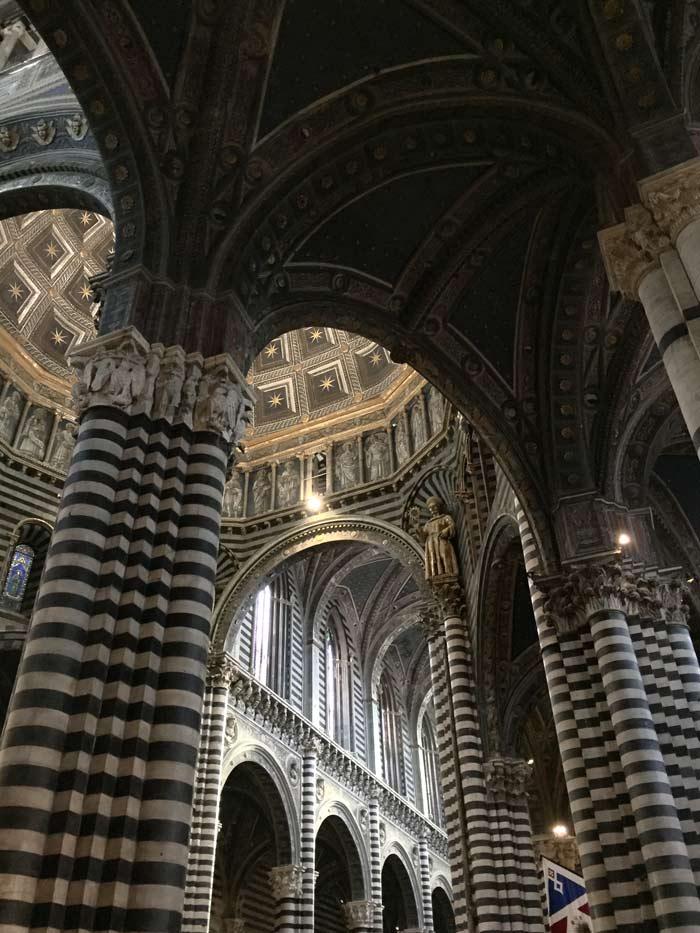 Inside the Duomo in Siena