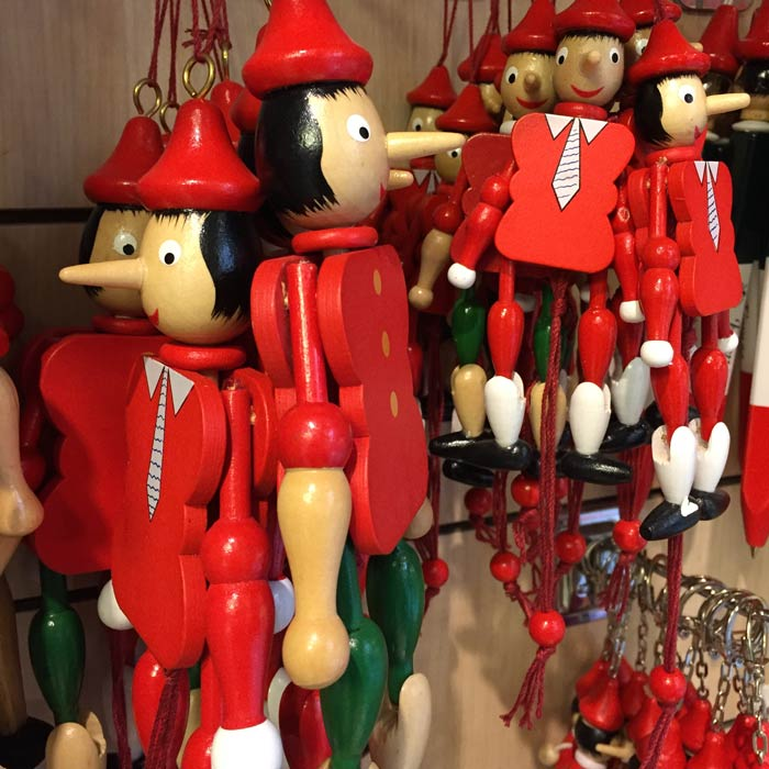 Little Pinocchio characters for sale in Florence