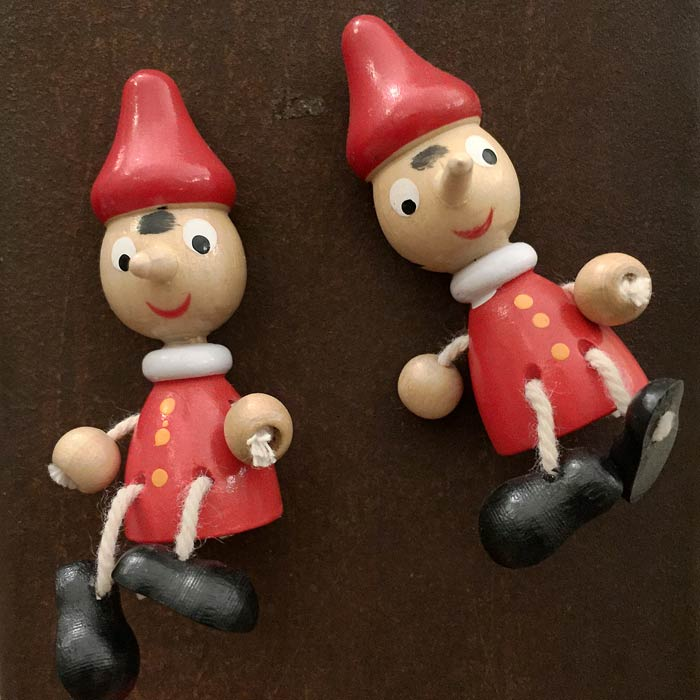 more little Pinocchio characters for sale in Florence