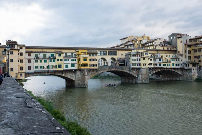 View of the Ponte Vecchio in Florence