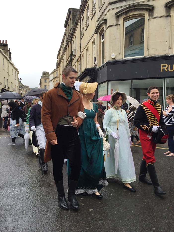 Channeling Jane Austen To Cancel Out Donald Trump - In Regency dress during Jane Austen week in Bath, Somerset
