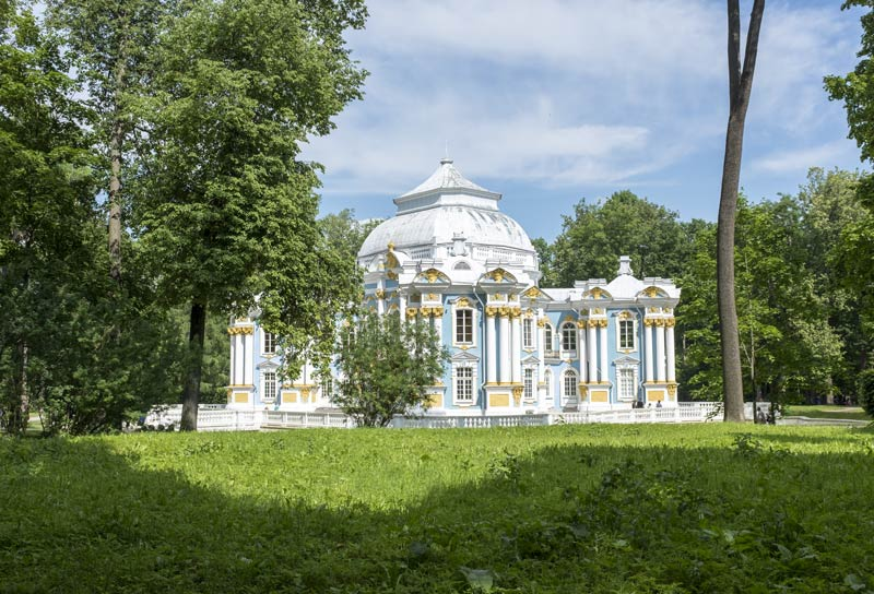 Summer Pavilion in the grounds of the estate of Catherine's Palace at Tsarskoye Selo outside Saint Petersburg