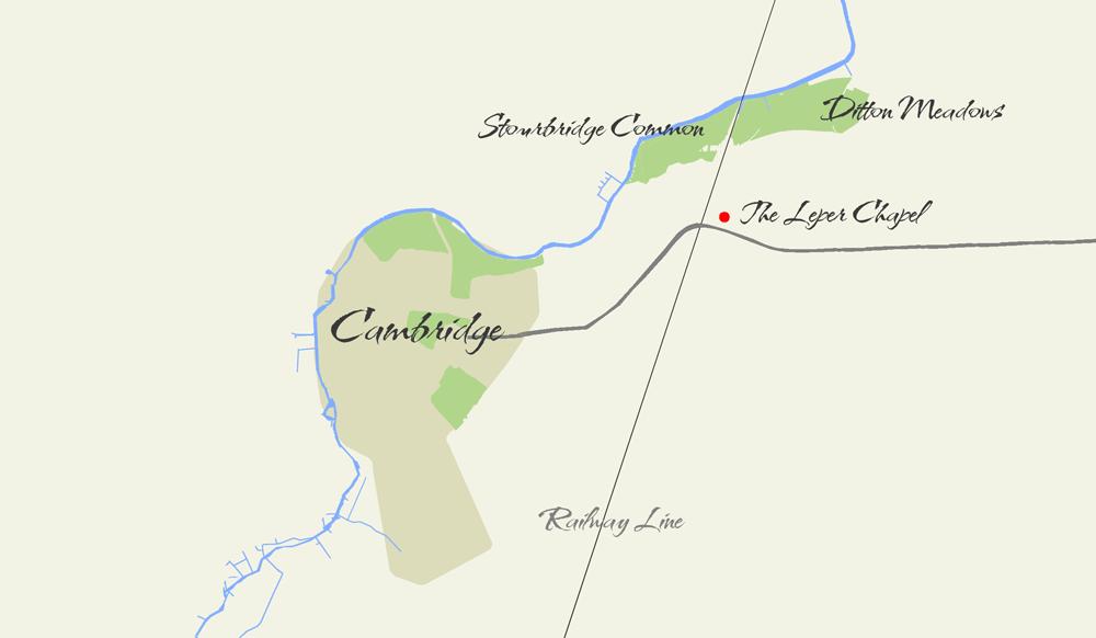 stourbridge-common-and-the-leper-chapel-in-relation-to-cambridge