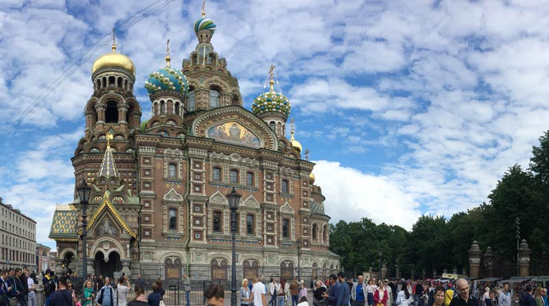 The Church of The Spilled Bloodin Saint Petersburg marking the scene of the assassination of Alexander II