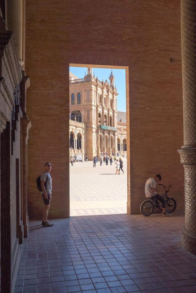 The Plaza de Espana in Seville