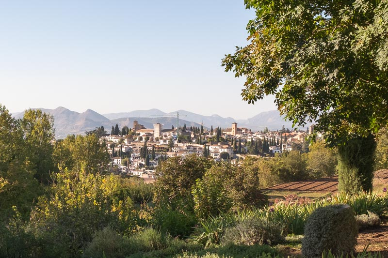 View over Granada from the Alhambra - from Cordoba to Granada