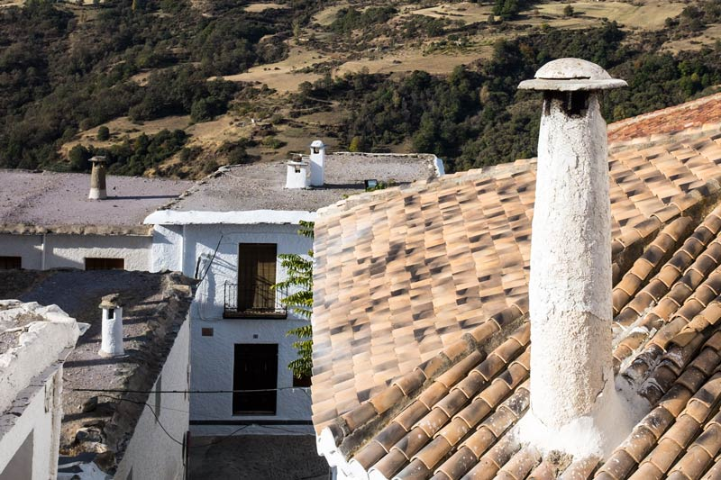 Capileira rooftops - view from our hotel window