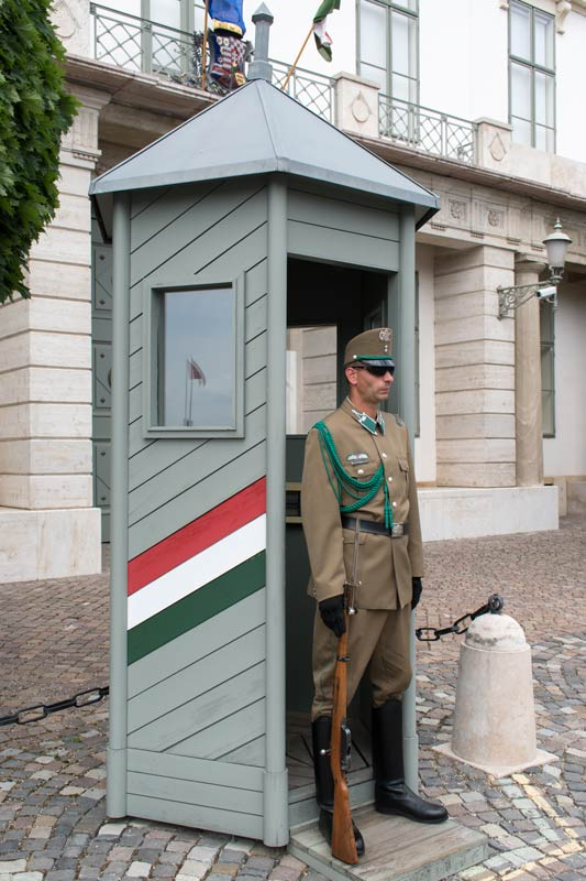 soldier in Budapest at president's office