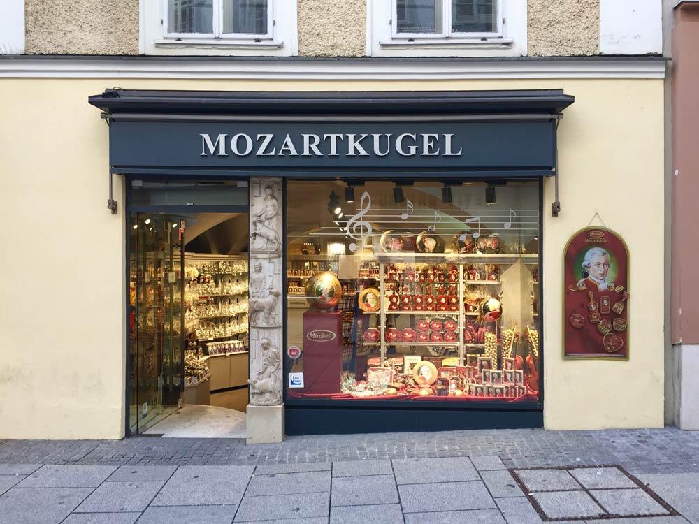 Mozart Kugel Shop in Salzburg