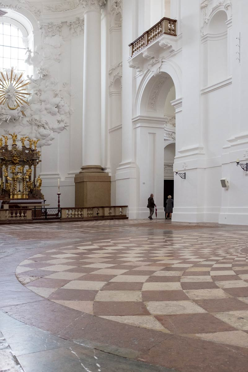 The interior of the Kollegienkirche in Salzburg